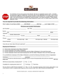 Employment Application Form - Maryland