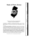 Application for Employment - State of New Jersey