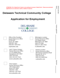 Employment Application - Delaware Technical Community