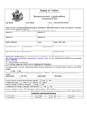 State of Maine Employment Application