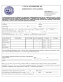 NH EMPLOYMENT APPLICATION FOR CITY OF MANCHESTER