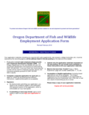 Manual Fill-In ODFW Application - Oregon Department of Fish and Wildlife
