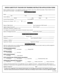 Substitute Teaching Application Form