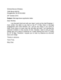 Marriage Leave Application Letter Sample Free Download