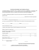 Trustee Appointment And Powers Affidavit Free Download