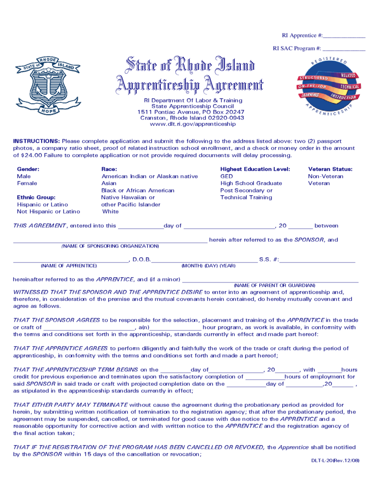 Apprenticeship agreement form 6 free templates in pdf for Apprenticeship contract template