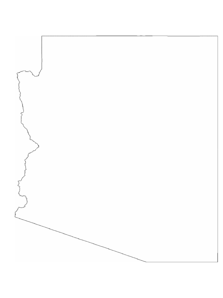 Arizona State Outline Map
