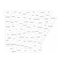 Arkansas County Map with County Names Free Download