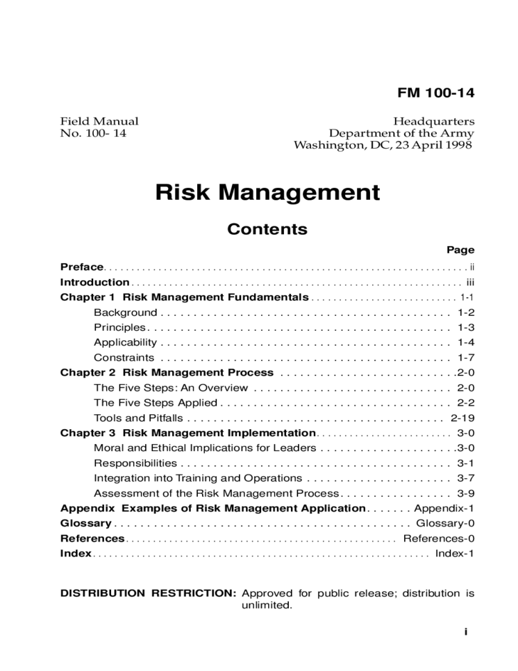 detailed risk management form free download With documents for risk management