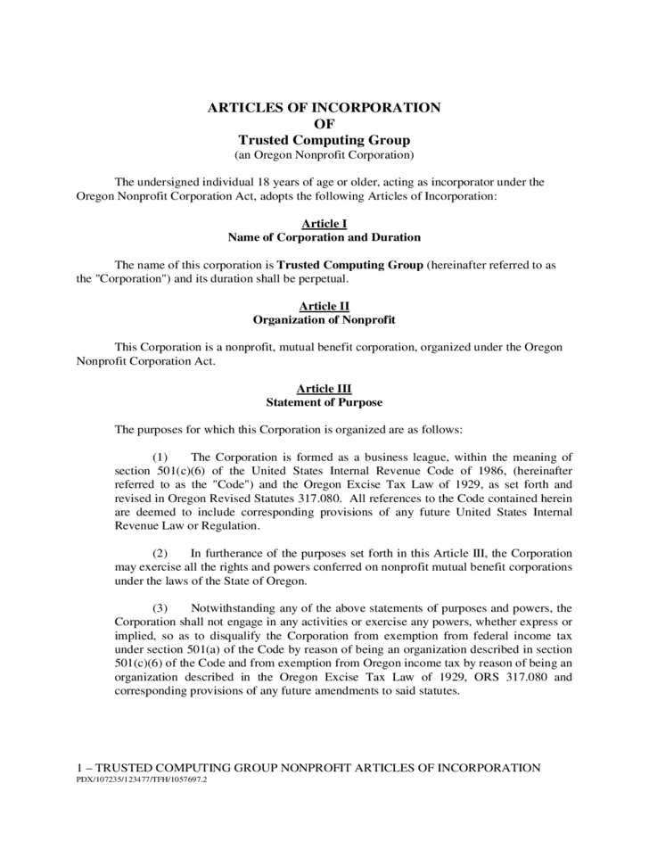 Sample Articles Of Incorporation Free Download - S corp articles of incorporation template