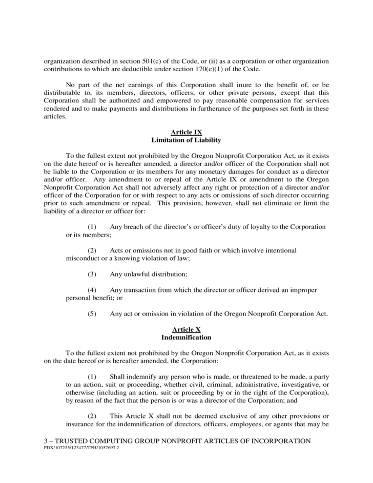 3 Sample Articles Of Incorporation  Articles Of Incorporation Template Free