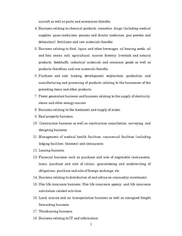 Sample Articles of Incorporation Template Free Download – Articles of Incorporation Template Free