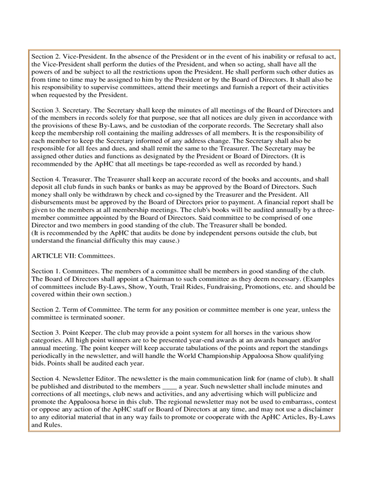 Sample Articles Of Incorporation And By Laws Free Download