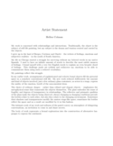 Basic Artist Statement Free Download