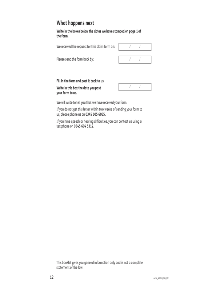 13 Attendance Allowance Form   UK