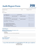 Audit Report Form - Michigan Free Download
