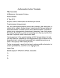 Authorization Letter Format Free Download