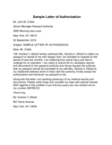 Letter of Authorization Sample Free Download