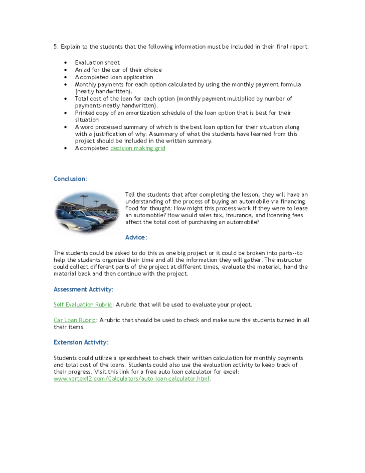Student Car Loan Project Free Download