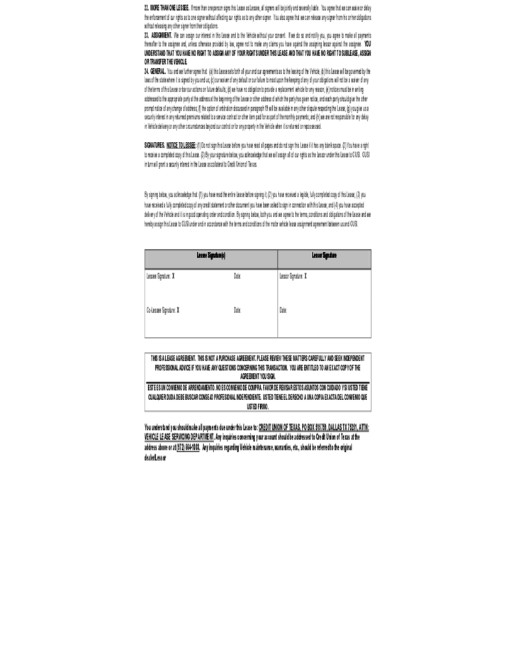 4 Auto Rental And Lease Sample Form