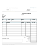 Auto Repair Service Invoice Template Free Download
