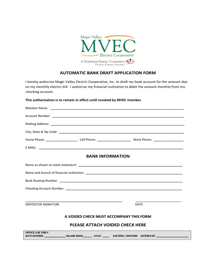 application form for bank draft
