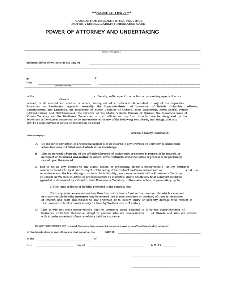 Bc Power Of Attorney Form Gallery Free Form Design Examples