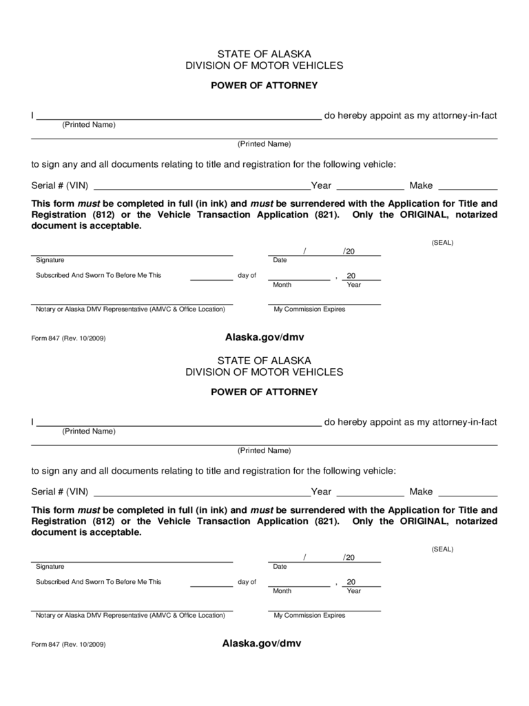 Alaska Power Of Attorney Form Free Templates In Pdf Word Excel