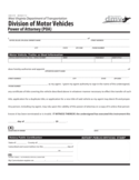 Division of Motor Vehicles Power of Attorney - West Virginia