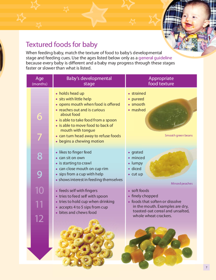 baby solid food chart pdf