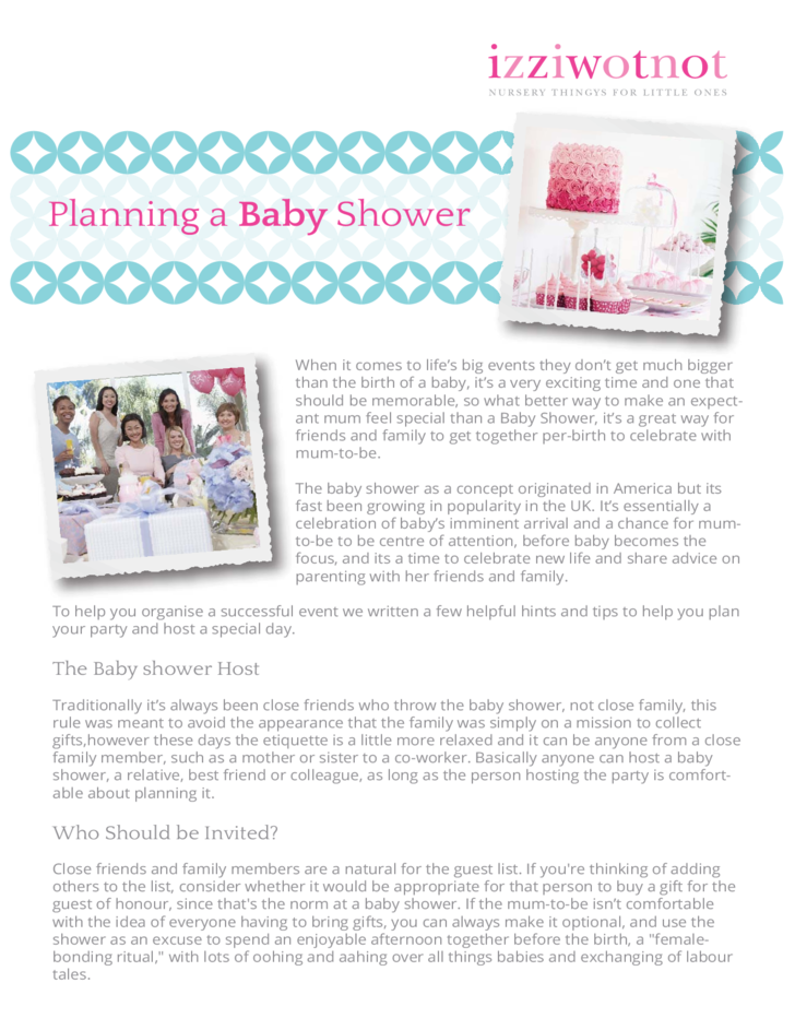 Baby Shower Planning Guide Free Download. This ...