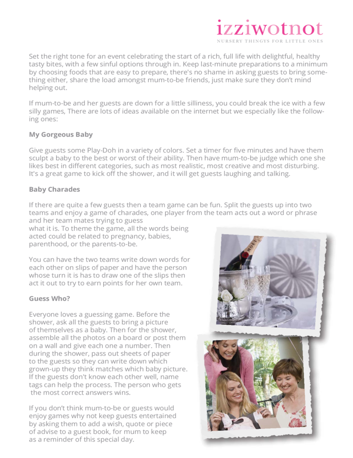 baby shower planning guide free download