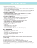 Baby Shower To Do List Sample Free Download