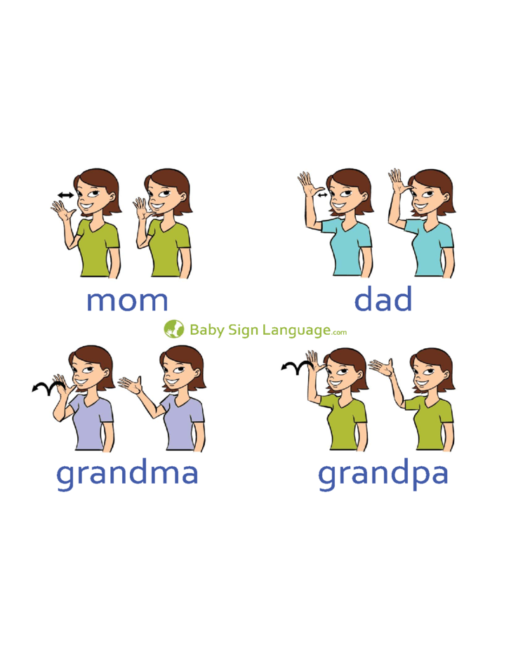 Perfect 1 Basic Baby Sign Language Chart Template