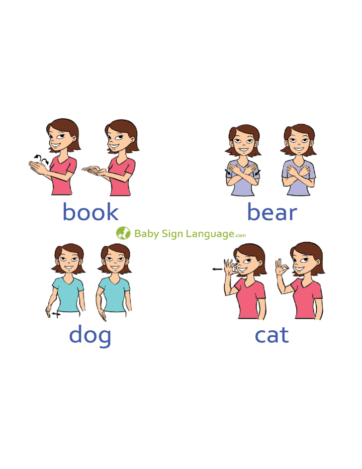 6 Basic Baby Sign Language Chart Template