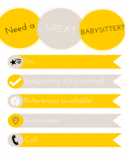 Simple Babysitting Flyer Free Download