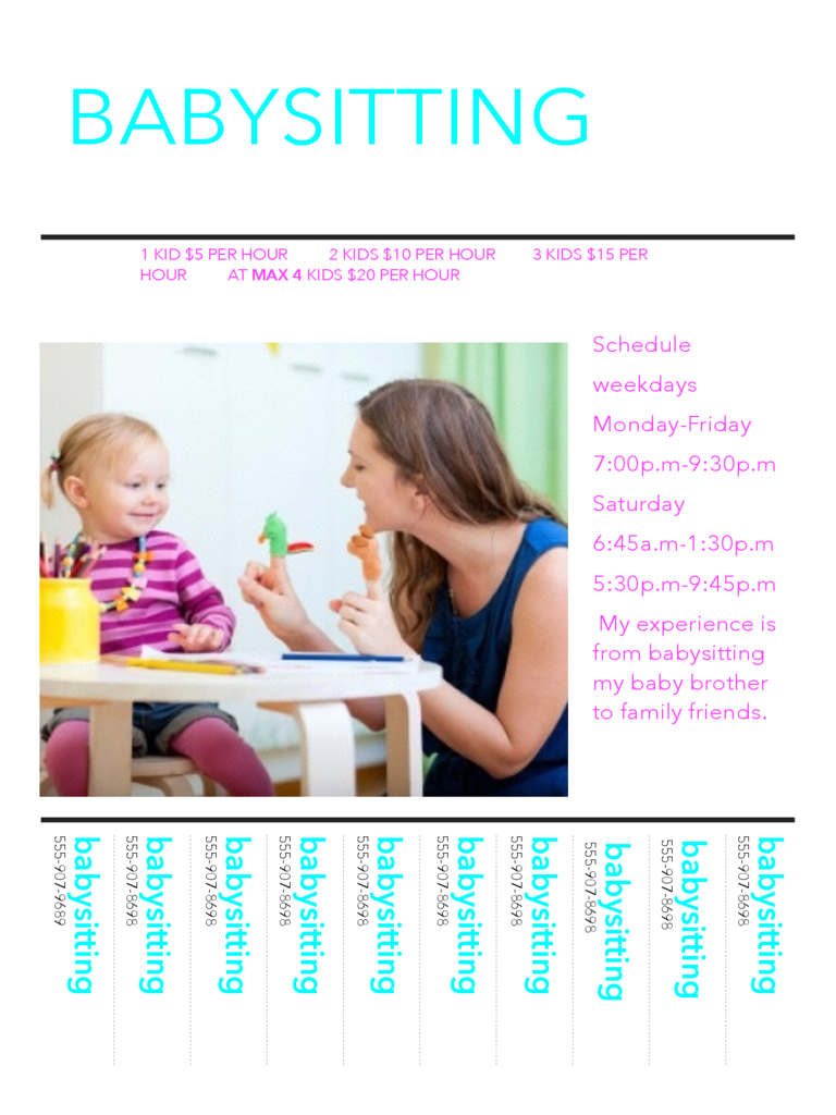 Babysitting Flyer Example Free Download