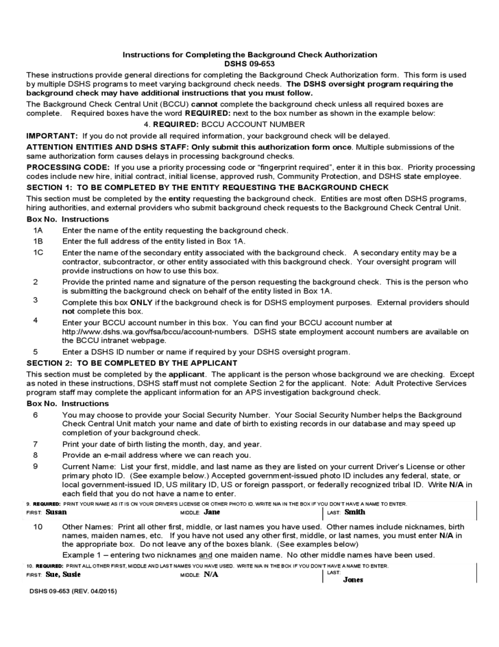 Background Check Authorization Form Free Download