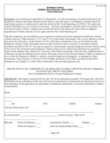 Criminal Background Check Form for Employment Free Download