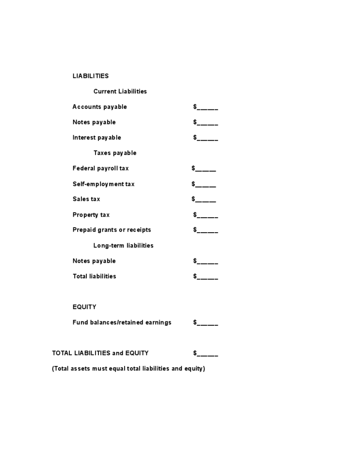 blank balance sheet example free download
