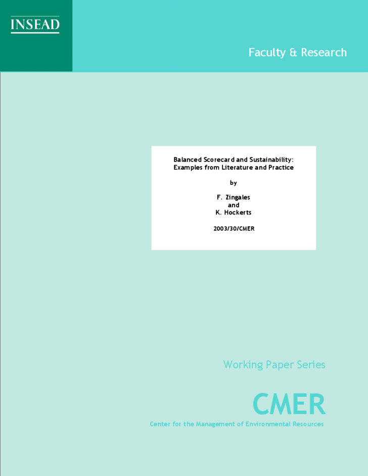 insead faculty and research working paper