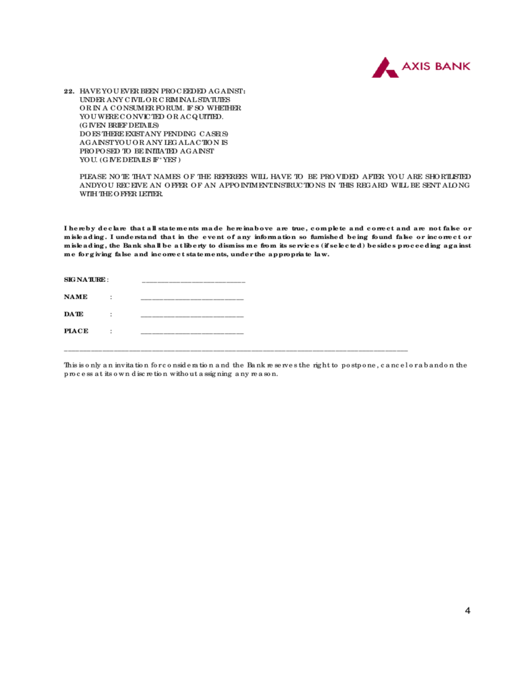 job-application-form-axis-bank-l4 Job Application Form For Axis Bank on sonic printable, free generic, part time, blank generic, big lots,