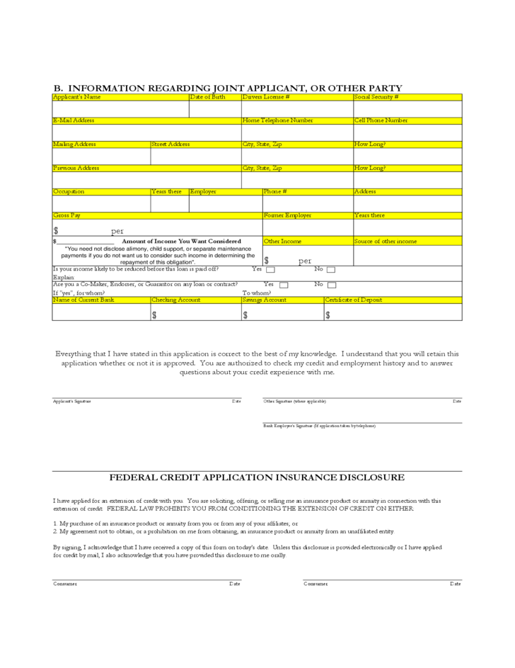 personal bank loan application form l2
