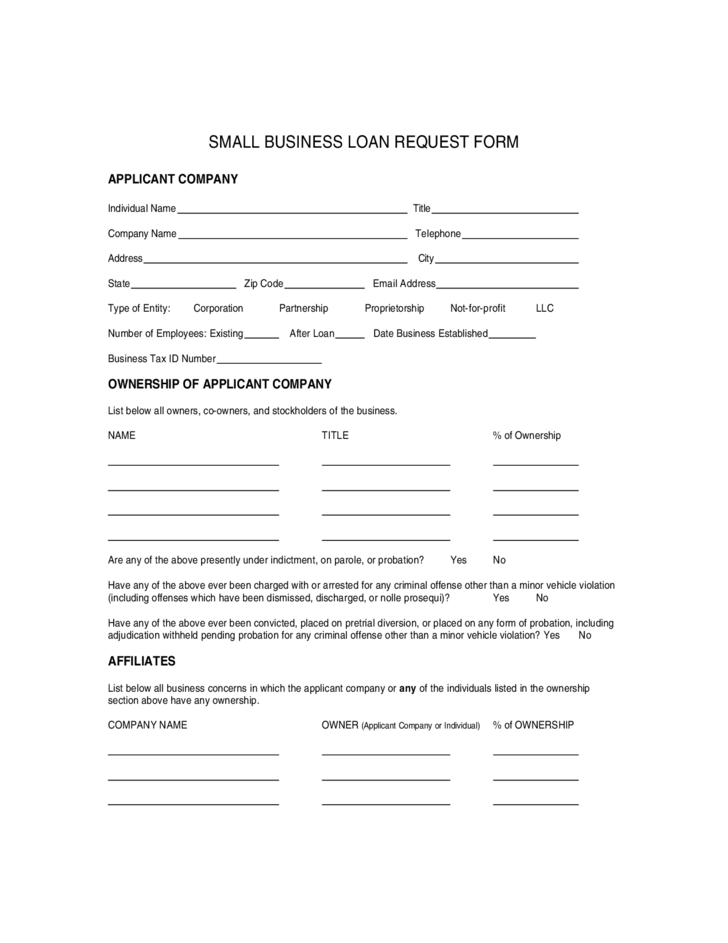 Small business loan application form free download 2 small business loan application form wajeb Image collections