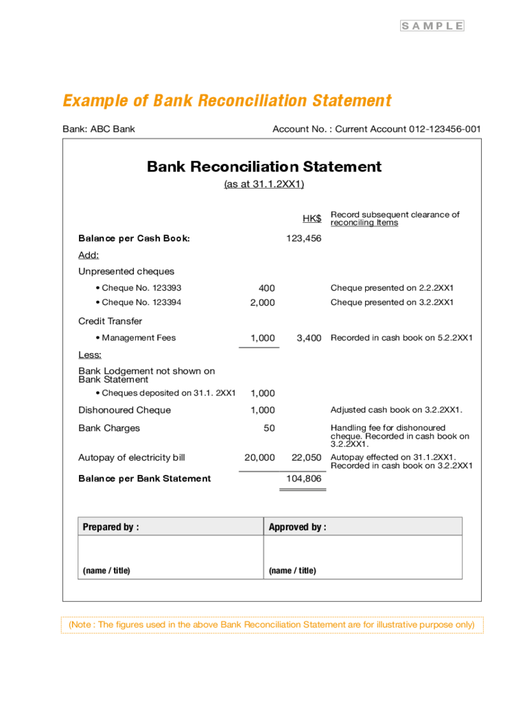 bank reconciliation template xls - bank reconciliation form 3 free templates in pdf word