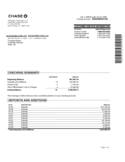 Sample Bank Statement Free Download