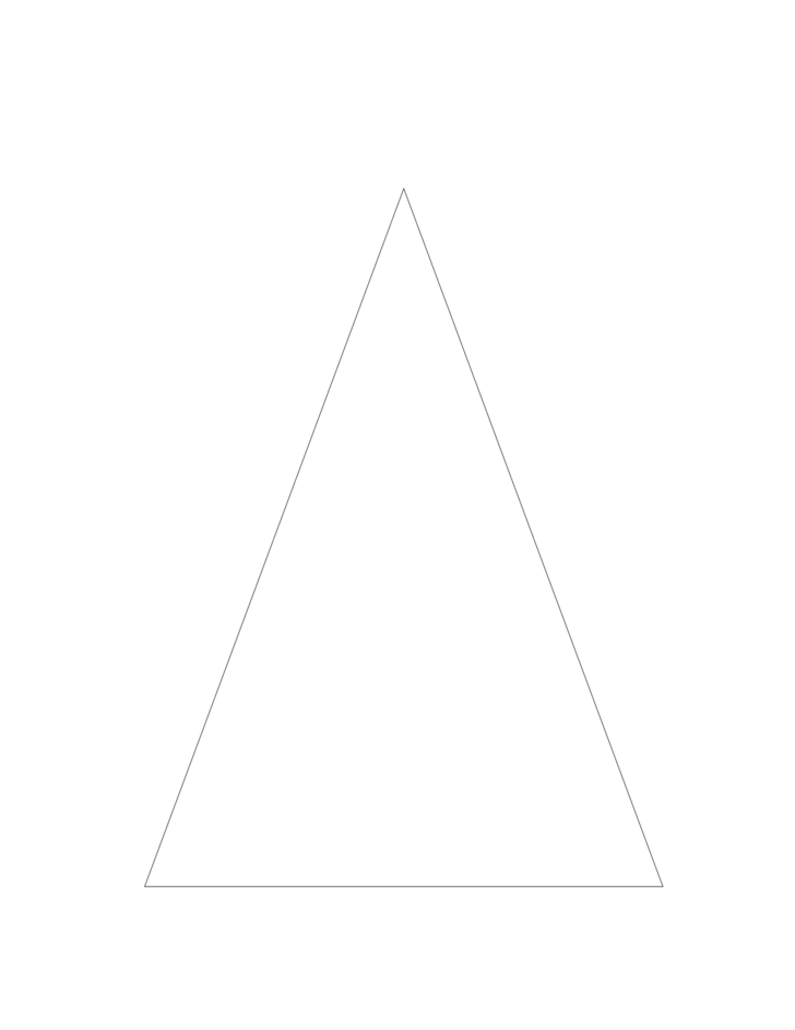 Banner Triangle Template