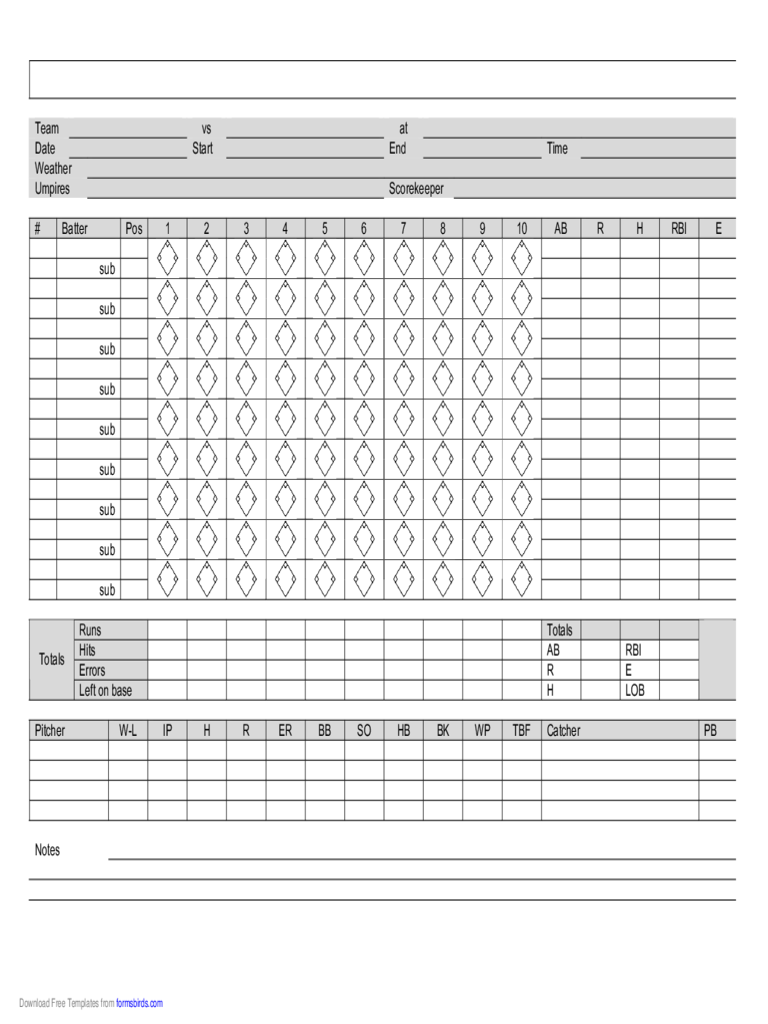 score sheet template 158 free templates in pdf word