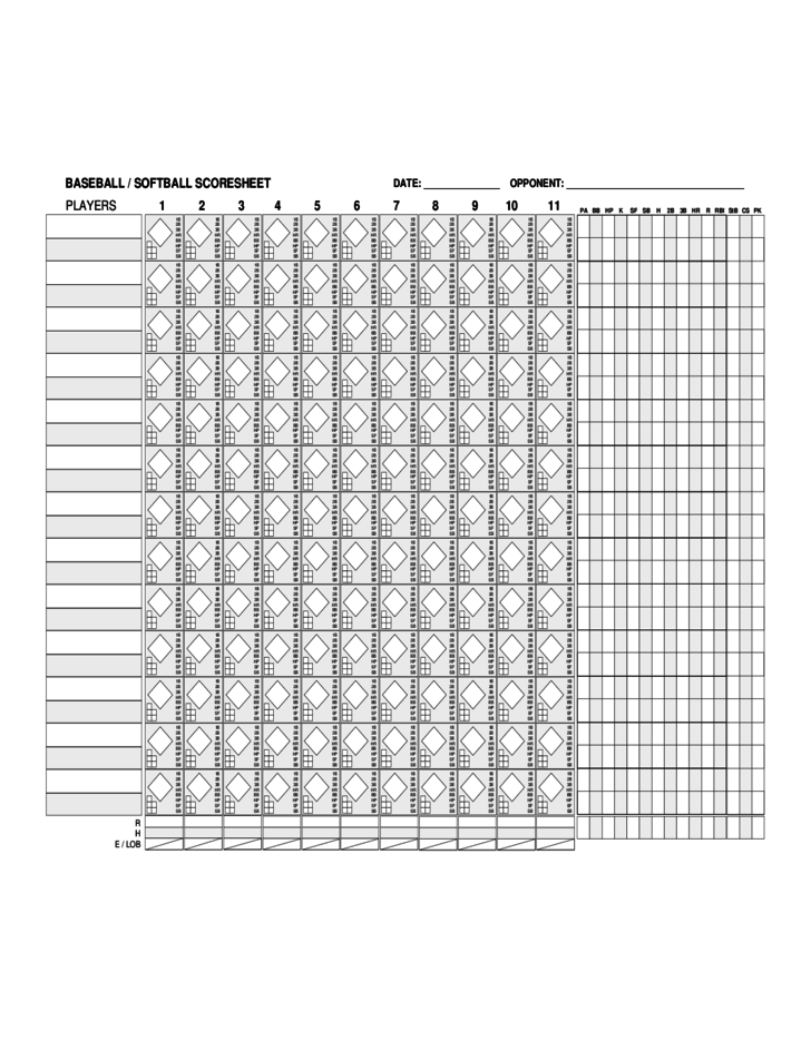 blank baseball score sheet free download