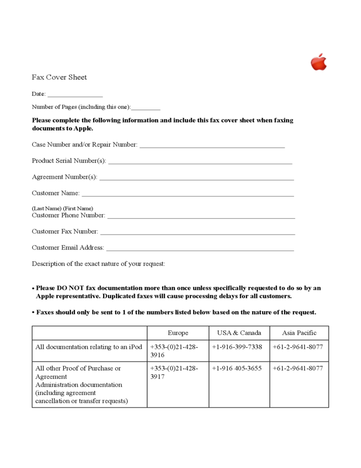 sample fax cover sheet free download